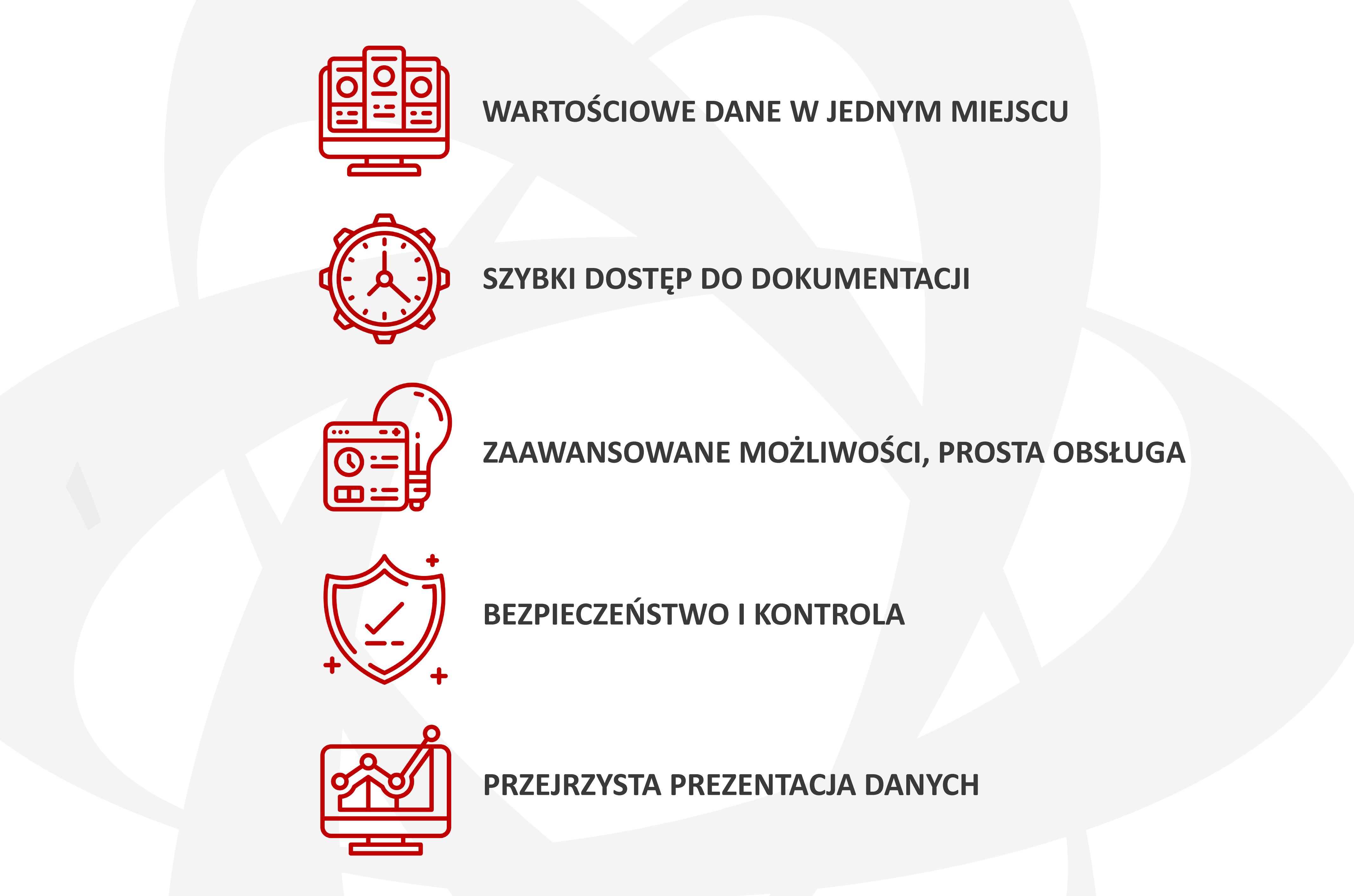 EXTRANET generuje szczegółowe raporty w oparciu o zgromadzone dane.